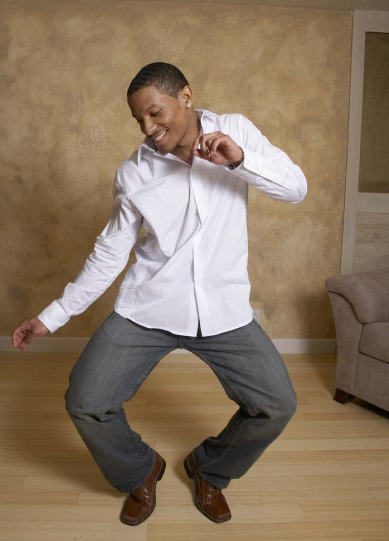 Man busting a move