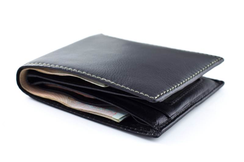 Wallet with bank notes
