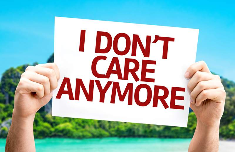 i dont care anymore sign