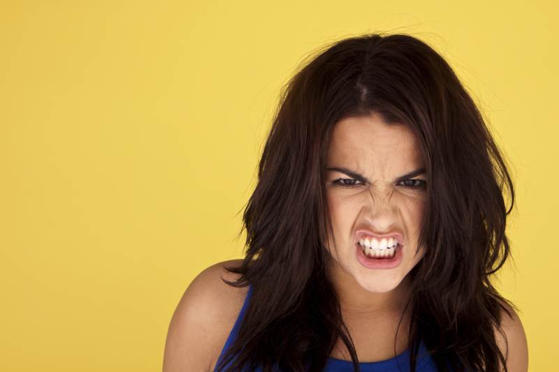 young angry woman