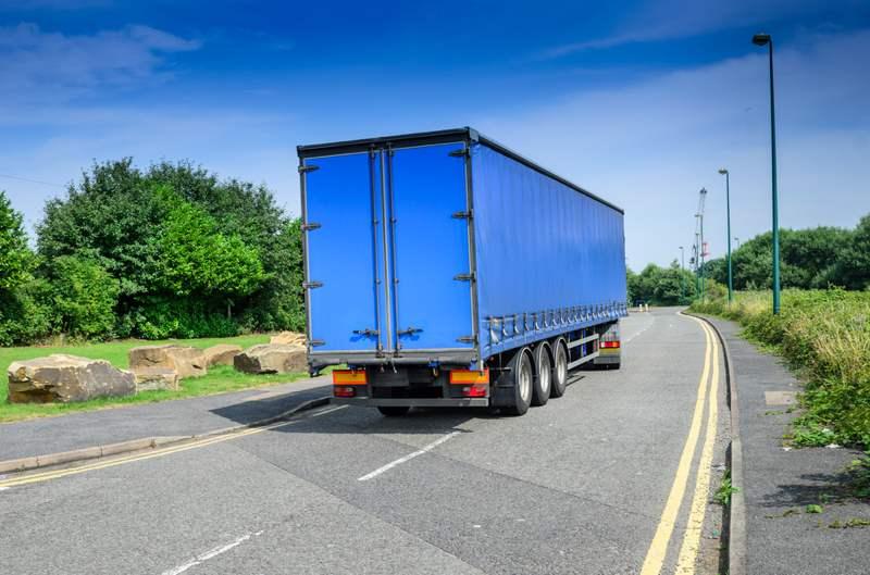 blue lorry truck