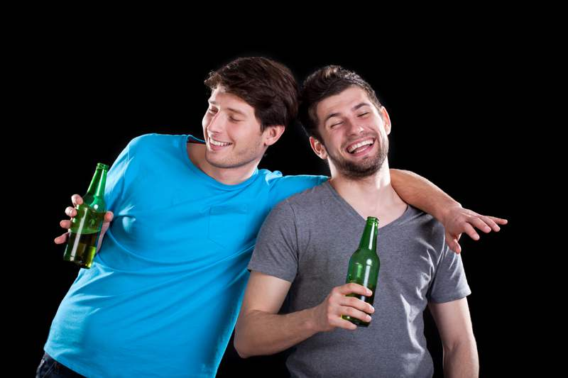 Drunken Men Bonding