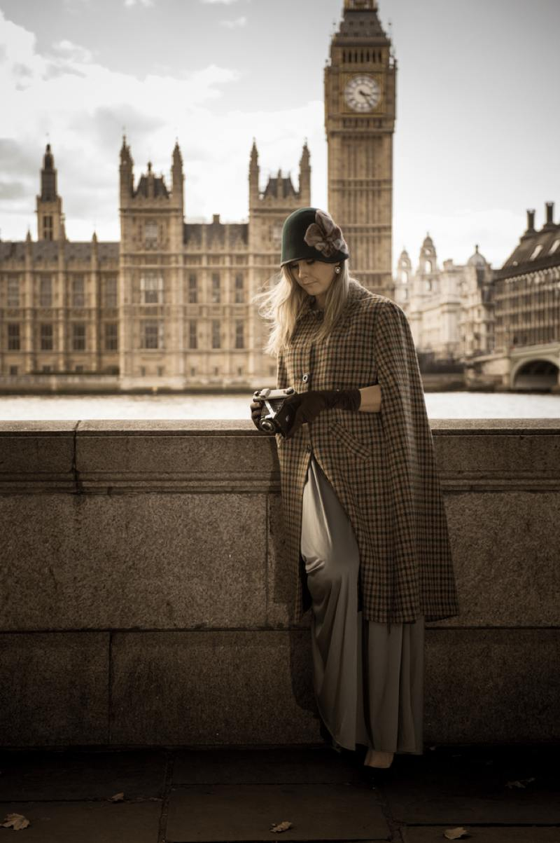 Woman outside of Westminster