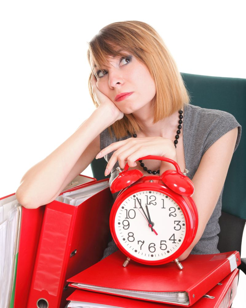 Woman counting down the hours