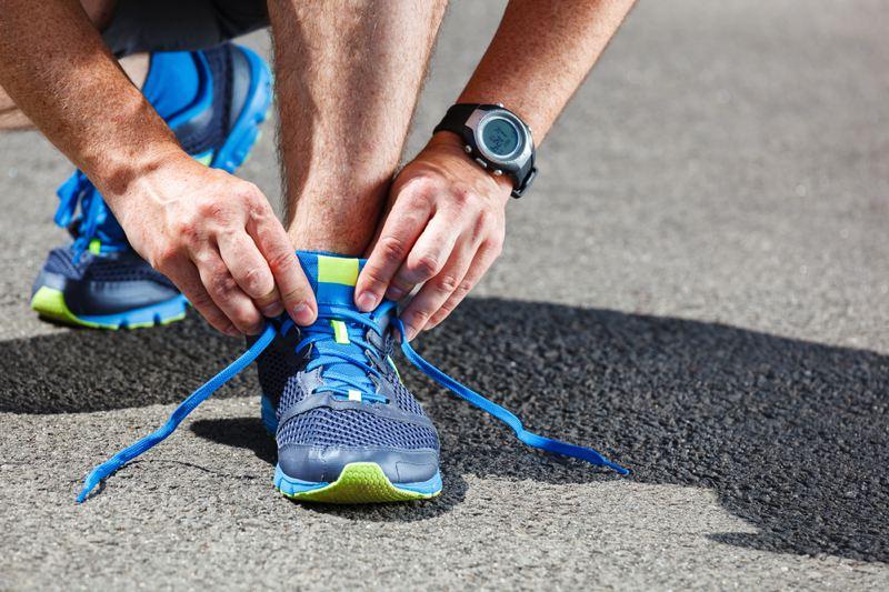 Blue sports shoe