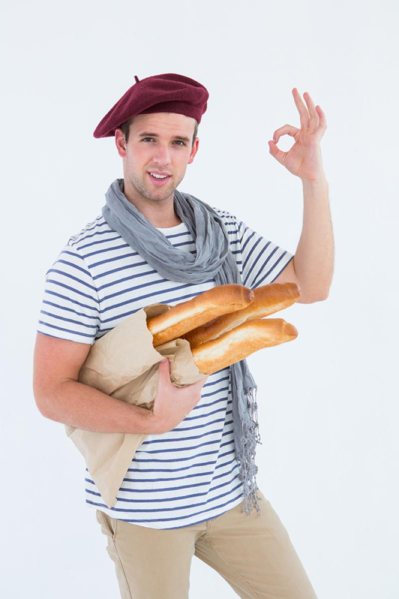 French beret and baguette man