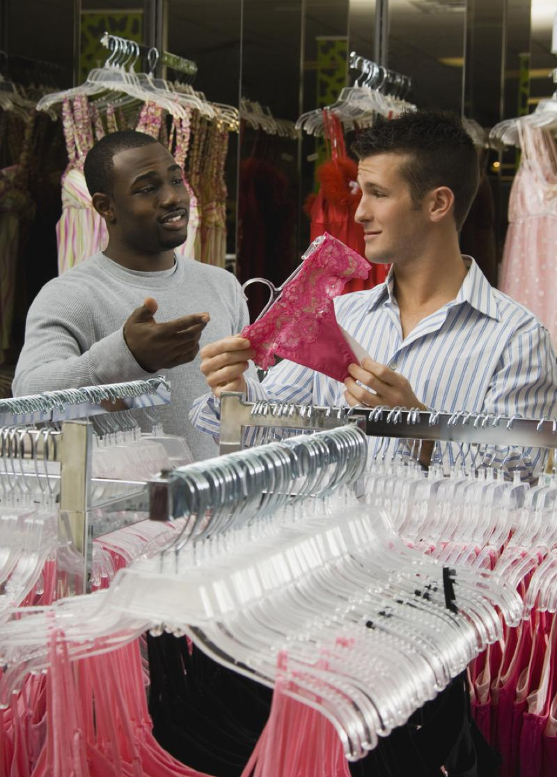 Men shopping for women