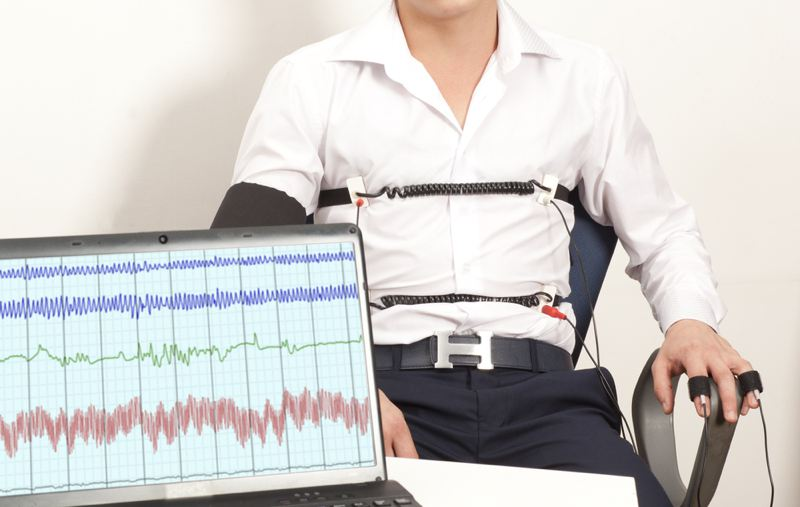 man passes a lie detector test