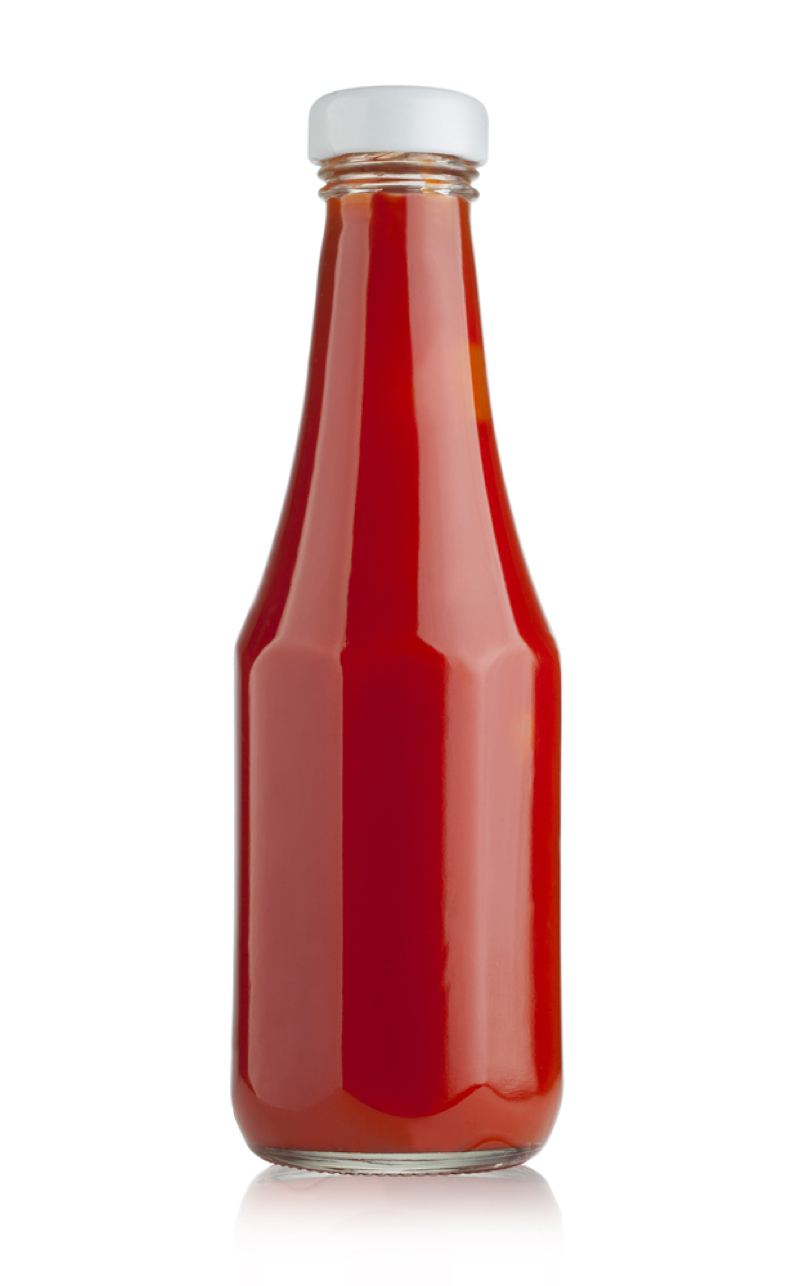 Tomato ketchup jar
