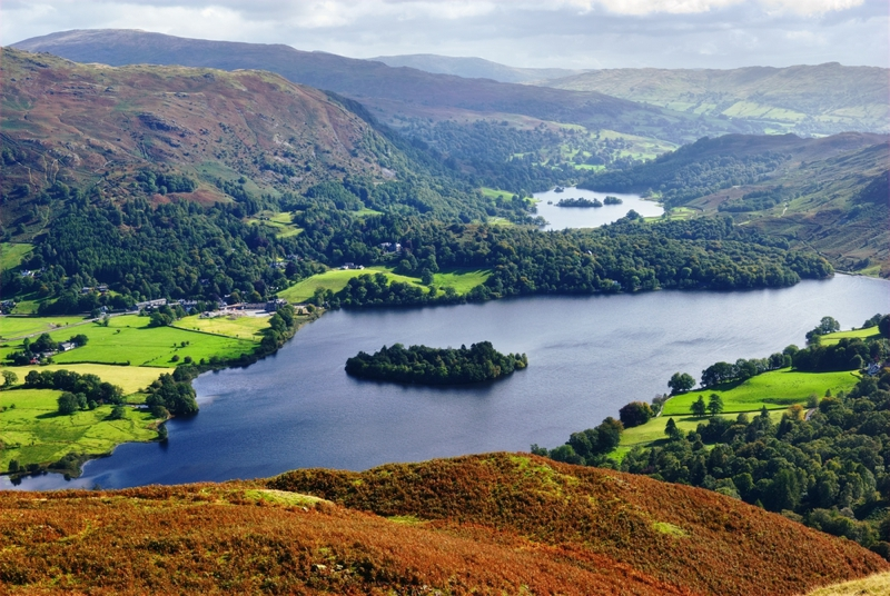 An aerial view of Grasmere